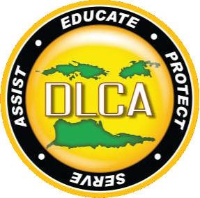 DLCA Logo, Educate, Protect, Serve, Assist